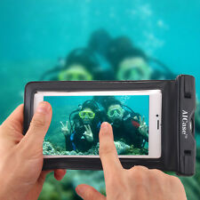 for iPhone 7 Plus 8 6s Plus Waterproof Underwater Photo Case Phone Dry Bag Pouch Black