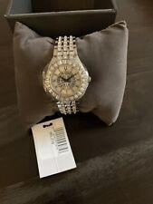 BULOVA Phantom Quartz Crystal Silver-tone Pave Dial Ladies Watch 96L278