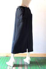 Vintage Black Satin Maxi Skirt Glam Holiday Formal Evening Hostess Party sz 6 8