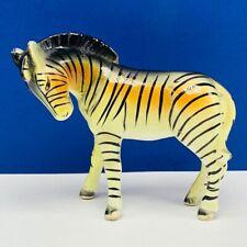Zebra figurine vtg porcelain statue sculpture orange japan horse handmade mcm