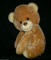 "14"" VINTAGE ANIMAL FAIR TAN BABY TEDDY BEAR STUFFED ANIMAL PLUSH TOY BROWN BIG"