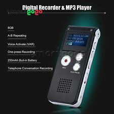 Rechargeable 8GB Digital Sound Voice Recorder Dictaphone MP3 Player BSG