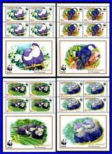 AITUTAKI 2002 WWF BIRDS PARROTS x4 M/S SC#533-36A MNH (3ALL)