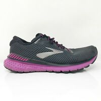 Brooks Womens Adrenaline GTS 20 1202961B062 Black Running Shoes Lace Up Sz 8.5 B
