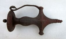 Antique Old Rare Hand Carved Iron Solid Mughal Sword Handle Hilt Rich Patina