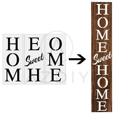 Home Sweet Home Stencil  Large Letter Stencil for Porch Sign Home Décor & DIY