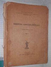 DIRITTO COSTITUZIONALE Parte Prima Alfonso Tesauro CEM 1948 libro manuale corso