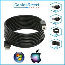 USB 2.0 Type A Male to Type B Male Printer Cable Cord 3FT 6FT 10FT 15FT DATA