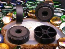4 PIEDS PLASTIQUE Ø47mm  BORD NOIR MOUSSE PLATINE CD AMPLI PREAMPLI AUDIO VIDÉO