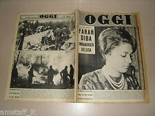 OGGI=1961/8=FARAH DIBA=TRENZANESIO=SAN CATALDO=FENAROLI=GIUSEPPE VIVIANI=LOREN=