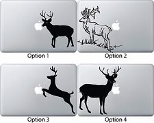 Deer Jumping Eating Apple Decal Sticker Mac Book Air/Pro Dell Laptop 13 15