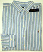 NWT $98 Polo Ralph Lauren LS Oxford Shirt Mens 2XLT 3XLT Blue Classic Fit NEW