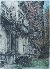 Schloss Porcia im Sommer,Luigi Kasimir 1881,Original,Kärnten