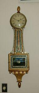 **** EARLY (1800'S) PERIOD ROXBURY PRESENTATION BANJO CLOCK  ****