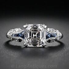 2.45ct White Topaz Women Men Jewelry 925 Silver Wedding Engagement Ring Size6-10