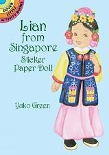 Yuko Green / Lian from Singapore Sticker Paper Doll Dover Little Activity Books