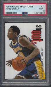 1998 Hoops Shout Outs # 21 Kobe Bryant PSA 9 MINT