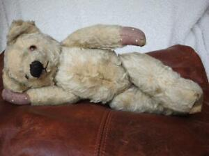 """CHAD VALLEY VINTAGE 1930s 13"""" MOHAIR JOINTED TEDDY BEAR """"KIPPER"""""""