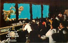 s12893 Davy Jones Locker bar pool view window, Waikiki, Hawaii, USA postcard