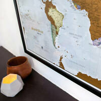 Scratch Maps Picture Frame - Any Size Unusual Non-Standard Bespoke Custom Made