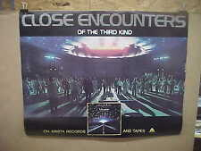 Close Encounters Of The Third Kind, orig rolled vinyl record/audio tape poster