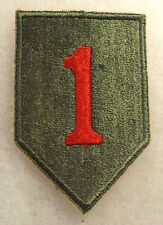 WWII D-DAY 1ST INF DIV ORIG COTTON CE SOME P&G ON BACK MOSTLY WHITEBACK