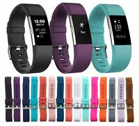 Replacement Silicone Wrist Band Strap For Fitbit Alta Charge 2 Small Large Band