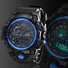OHSEN Digital G Sport Quartz Military Watch Chronograph Water proof Shock Blue
