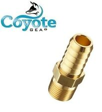 """Brass Hose Barb 3/8"""" X 1/8"""" Male NPT Pipe Thread Hex Fuel Straight Fitting"""