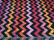 3 Yards Quilt Cotton Fabric- Quilting Treasures Chevron Chic Red/Orange - SALE