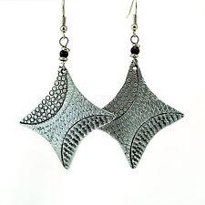 Aluminium Star Shaped Earrings 269-74 African Hand Hammered Recycled Aluminum