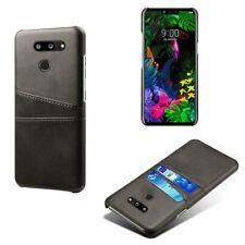 Per LG G6 G5 G7 G8 THINQ Stylo 4 antiurto PU Pelle Custodia Cover Posteriore slot per schede