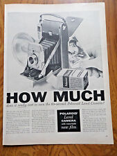 1956 Polaroid Land Camera Ad  How Much does it really Cost to own 60 Second