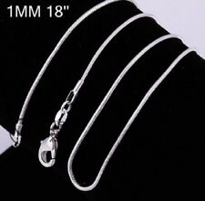 925 STAMPED SILVER PLATED THIN CHAIN NECKLACE 18 INCH 46cm x 1mm REPLACEMENT N18