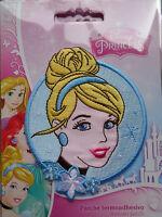"""Princess """" Cinderella """" * Disney * Bügelbild * Rund * Aufbügel-Flicken*Neu"""