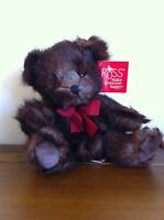 RUSS Berrie Teddy Bear Dark Brown Named Bryce Medium Soft Plush Toy