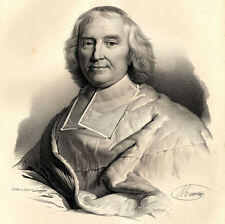 Grand Portrait du Cardinal Dubois - Lithographie originale XIXème