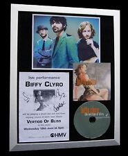 BIFFY CLYRO+SIGNED+FRAMED+VERTIGO+ONLY+UNIQUE=100% AUTHENTIC+EXPRESS GLOBAL SHIP