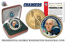 SAN DIEGO CHARGERS NFL USA Mint PRESIDENTIAL Dollar Coin-VELVET BOX AND COA*NEW*