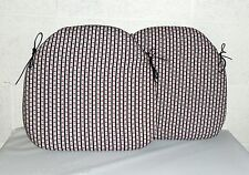 2 x ZIPPY SMALL DINING CHAIR CUSHIONS SEAT PADS - ROSEBUD - GARDEN FURNITURE TIE