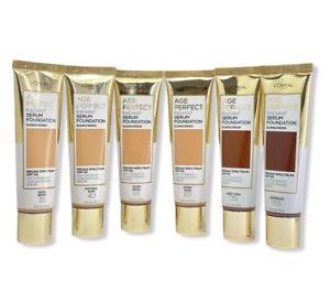 L'Oreal Age Perfect Radiant Serum Foundation Sunscreen SPF 50 (1.0oz) You Pick!