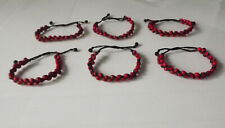 Wholesale 18 pcs Huayruro Seeds Bracelets. Two Lines. Handmade in Peru