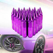 20 Lug Nut Spike Purple Wheel Rims M12X1.5 60mm Aluminum Racing Extended Tuner