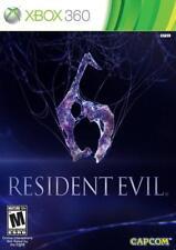 Resident Evil 6 (Microsoft Xbox 360, 2012) DISC IS MINT