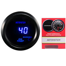 "HOTSYSTEM BLACK 2"" 52MM DIGITAL LED OIL TEMP TEMPERATURE GAUGE METER US HOT"