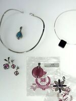 Premier Jewelry Choker Pendants Necklace Pink Purple Flower Katrina Costume PD