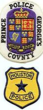 X150 Lot of 2 Police Patches, Prince George's Police and Houston Police