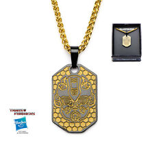 OFFICIAL TRANSFORMERS - OPTIMUS PRIME DOG TAG PENDANT WITH CHAIN NECKLACE (NEW)