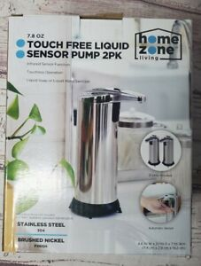 New Home Zone Touchless Liquid Sensor Pump, Stainless 7.8 oz Soap Sanitizer 2