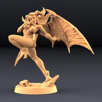 Aya Succubus Lust Demon Abyss Pin Up Miniature Wargaming D&D Resin 3D Print 3D8